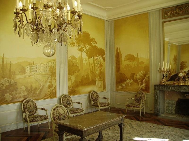 Pièces intérieures du château de Cassan