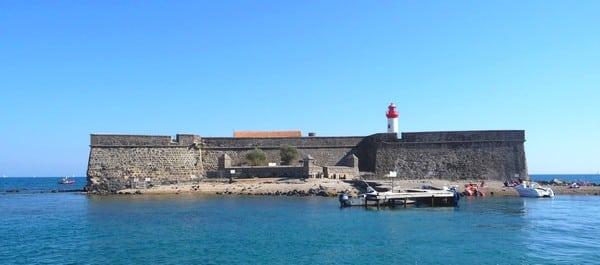 Fort Brescou au large du Cap d'Agde