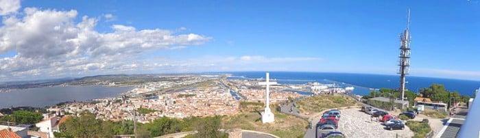 Vue depuis les hauteurs de Sète