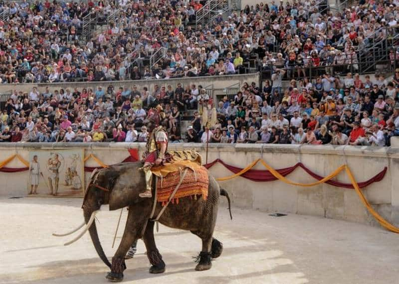 spectacle sur la rome antique